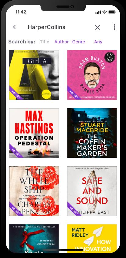 xigxag app audiobook catalogue Harper Collins titles