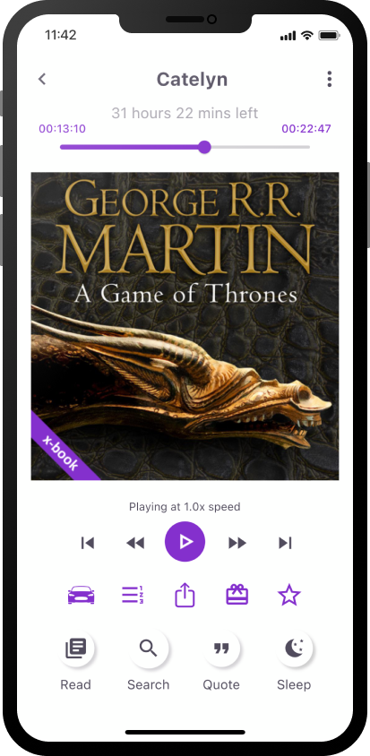 Game of Thrones audiobook and ebook in one on xigxag